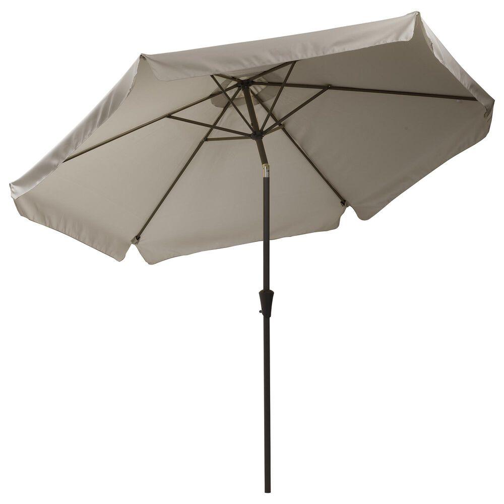 CorLiving 10' Round Tilting Patio Umbrella in Sand Grey, , large
