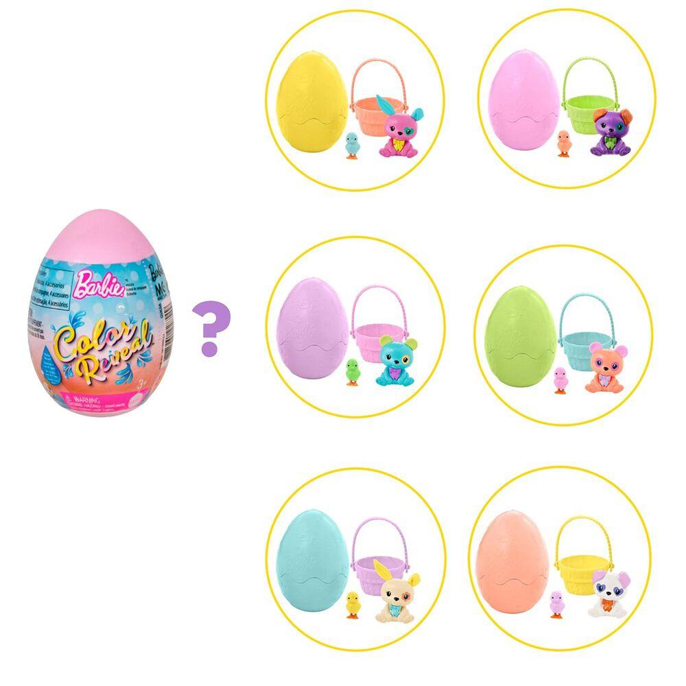Mattel Barbie Color Reveal Pet Set in Easter Egg Case, , large