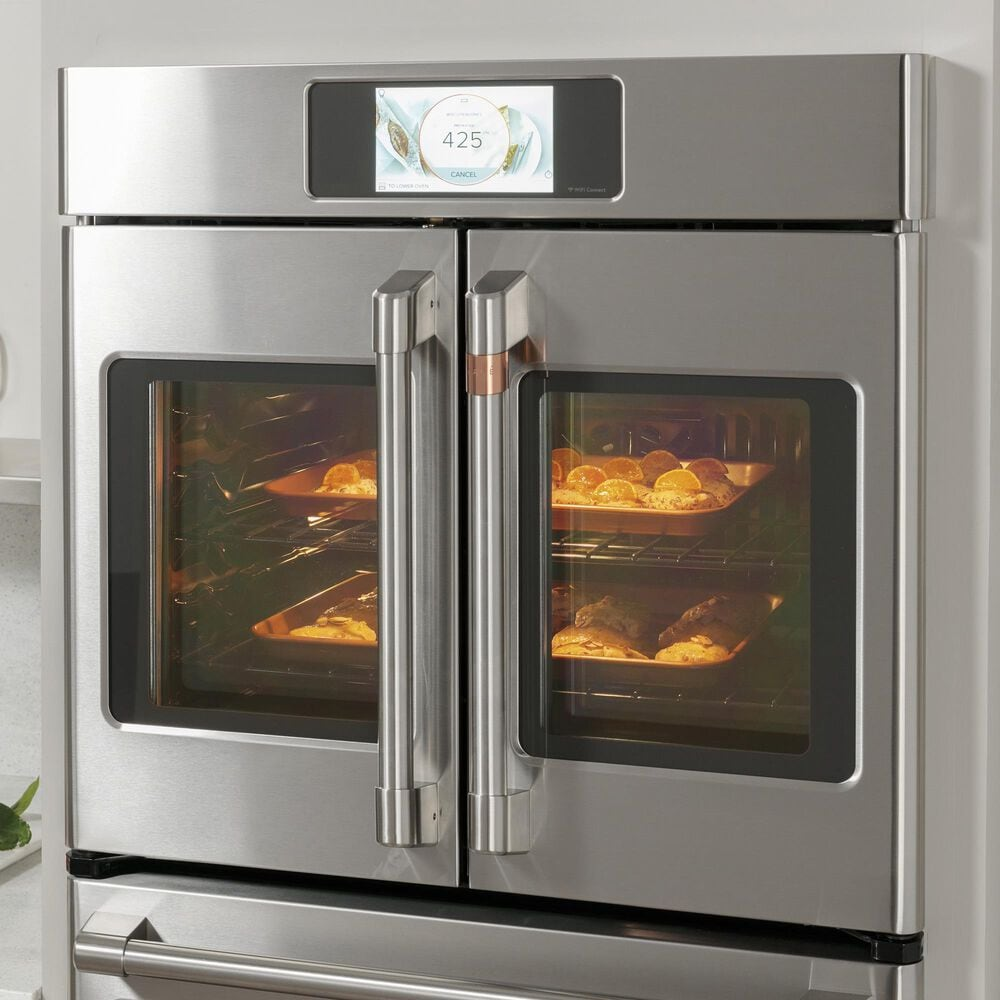 """GE Cafe 30"""" French-Door Double Wall Oven in Stainless Steel, , large"""