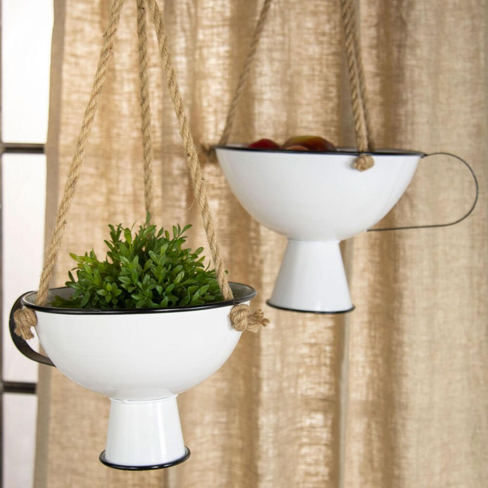 VIP Home and Garden American Mercantile Hanging Planters (Set of 2), , large