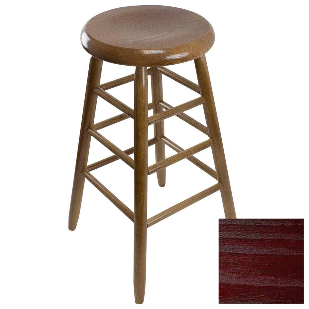 Lakeside Garland Round Barstool in Cranberry, , large