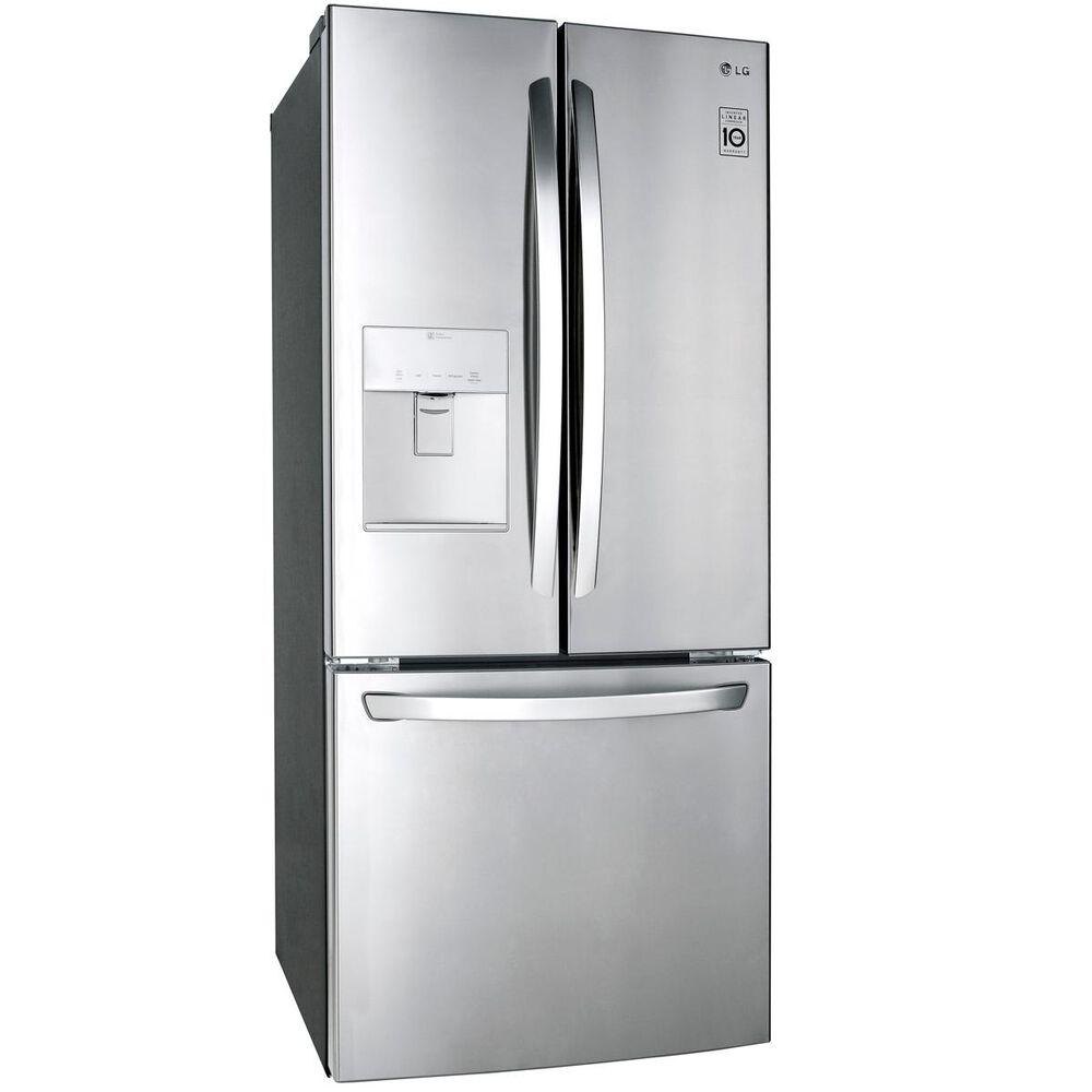 LG 21.8 Cu. Ft. 3-Door French Door Refrigerator in Stainless Steel , , large