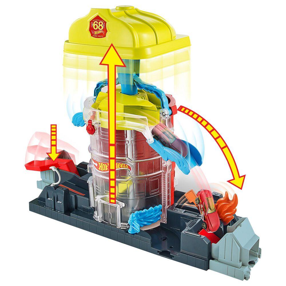 Mattel Hot Wheels Super City Fire House Rescue Play Set, , large