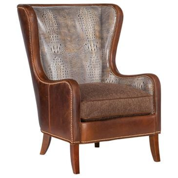Bradington-Young Aurora Stationary Chair in Brown Leather, , large