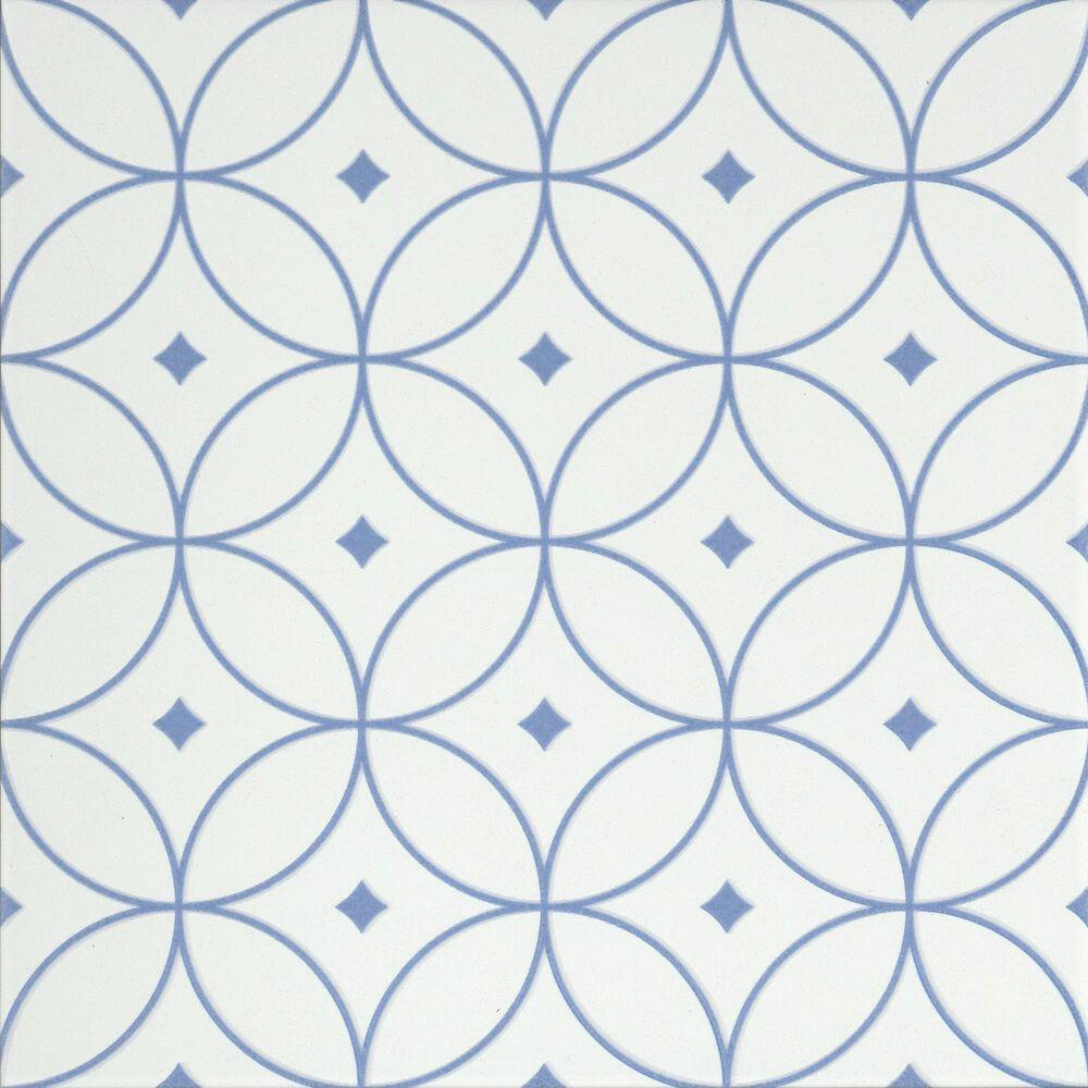 """Emser Geometry Atom Blue 10"""" x 10"""" Porcelain Tile, , large"""
