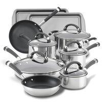 Circulon Cookware 14-Piece Stainless Steel Nonstick Cookware Set