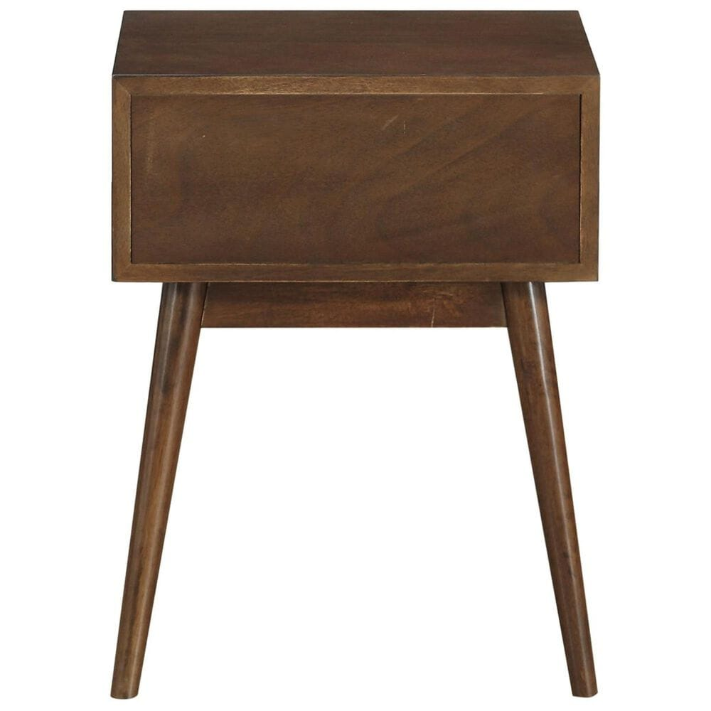 Accentric Approach Accentric Accents Mid Century Modern End Table in Brown Honey, , large