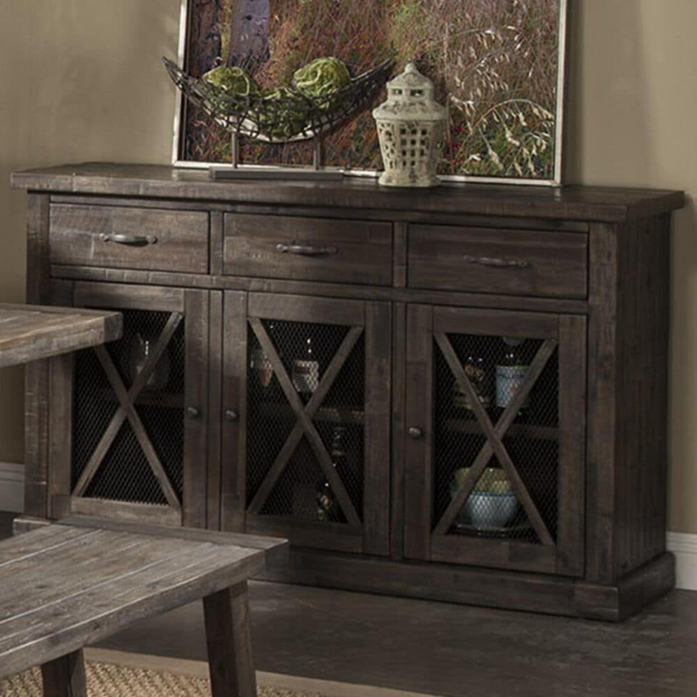 Alpine Furniture Newberry Sideboard in Salvaged Grey, , large
