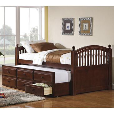 Pacific Landing Twin Panel Bed with Trundle in Cherry , , large