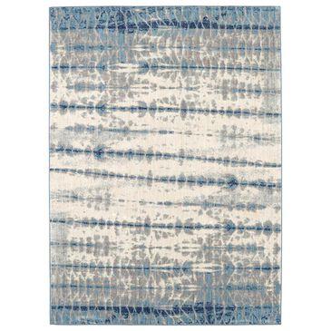 Scott Living Expressions Shibori 91670-50102 2' x 3' Indigo Scatter Rug, , large