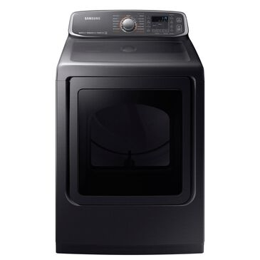 Samsung  7.4 Cu. Ft. Electric Dryer in Black Stainless Steel, , large