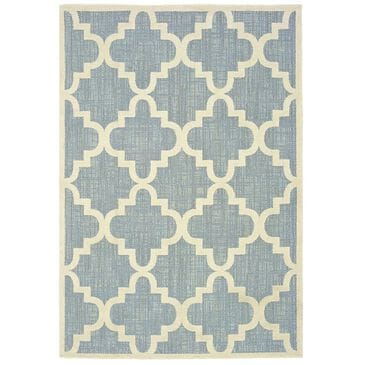 """Oriental Weavers Barbados 7'10"""" x 10' Blue and Ivory Area Rug, , large"""