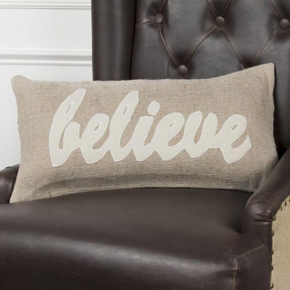"""Rizzy Home 11"""" x 21"""" Pillow Cover in Cream and Brown, , large"""