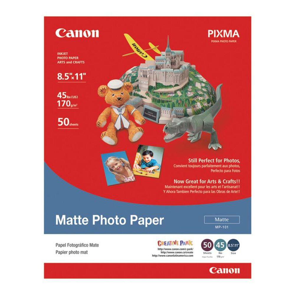 """Canon 50 Sheets Matte Photo Paper (8.5"""" x 11""""), , large"""