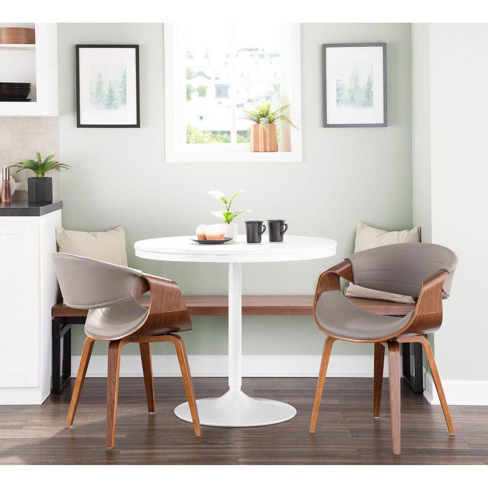 Lumisource Curvo Dining Chair in Grey/Walnut, , large