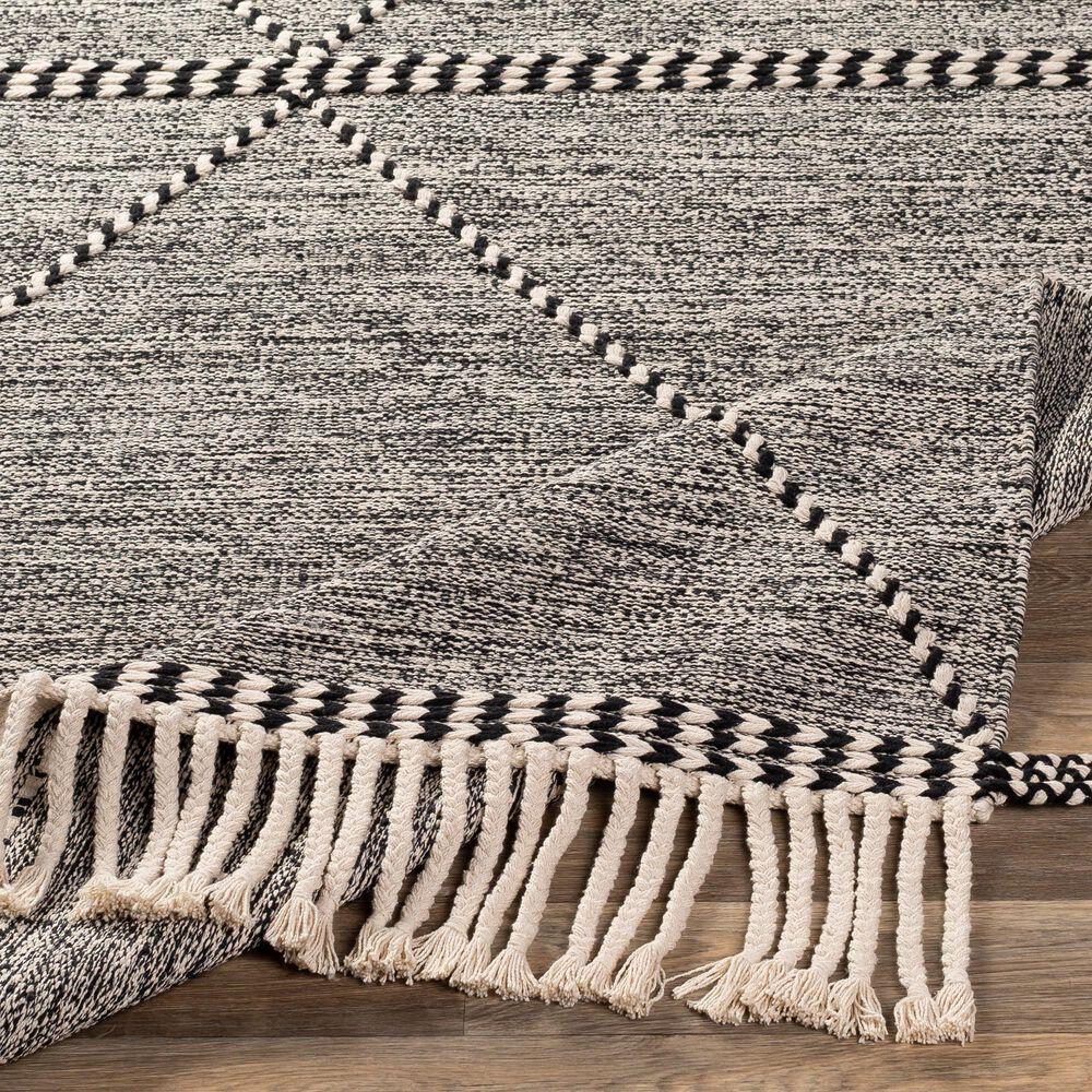 Surya Zanafi ZNF-2301 6' x 9' Black and Cream Area Rug, , large