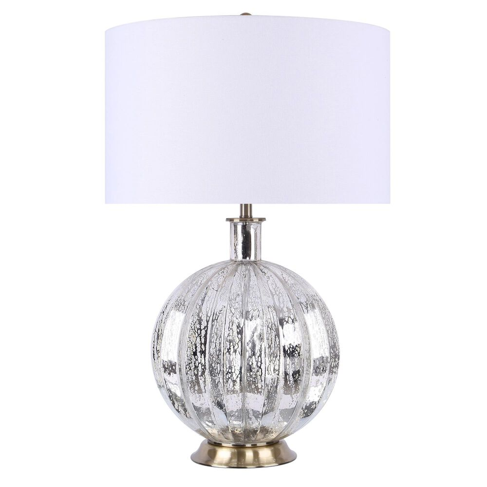 Grandview Gallery Table Lamp and Shade in Silver Root Glass, , large