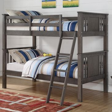 Cambria Designs Princeton Twin over Twin Bunk Bed in Brown, , large
