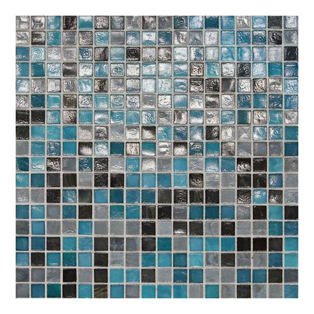 "Dal-Tile City Lights Rio 12"" x 12"" Glass Mosaic Sheet, , large"