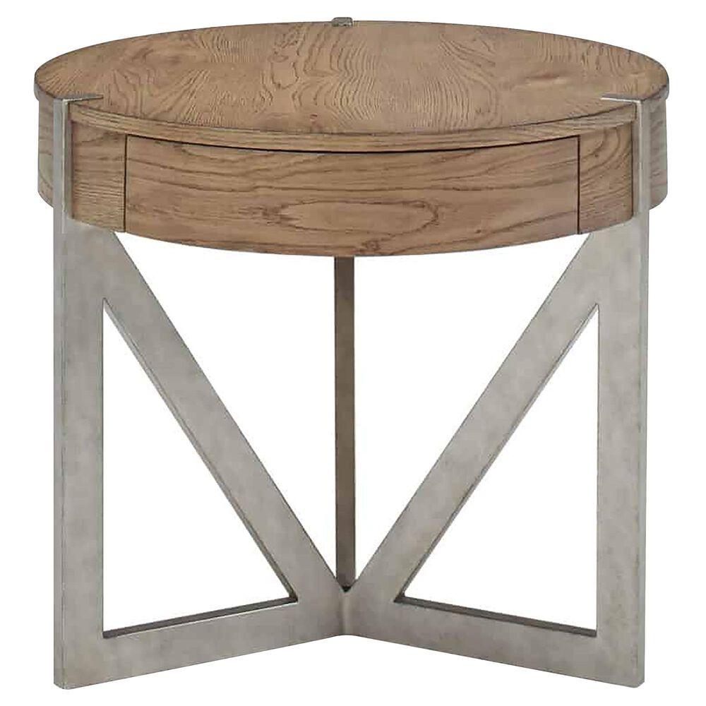 Vantage Passage End Table in Light Oak and Vintage Pewter, , large