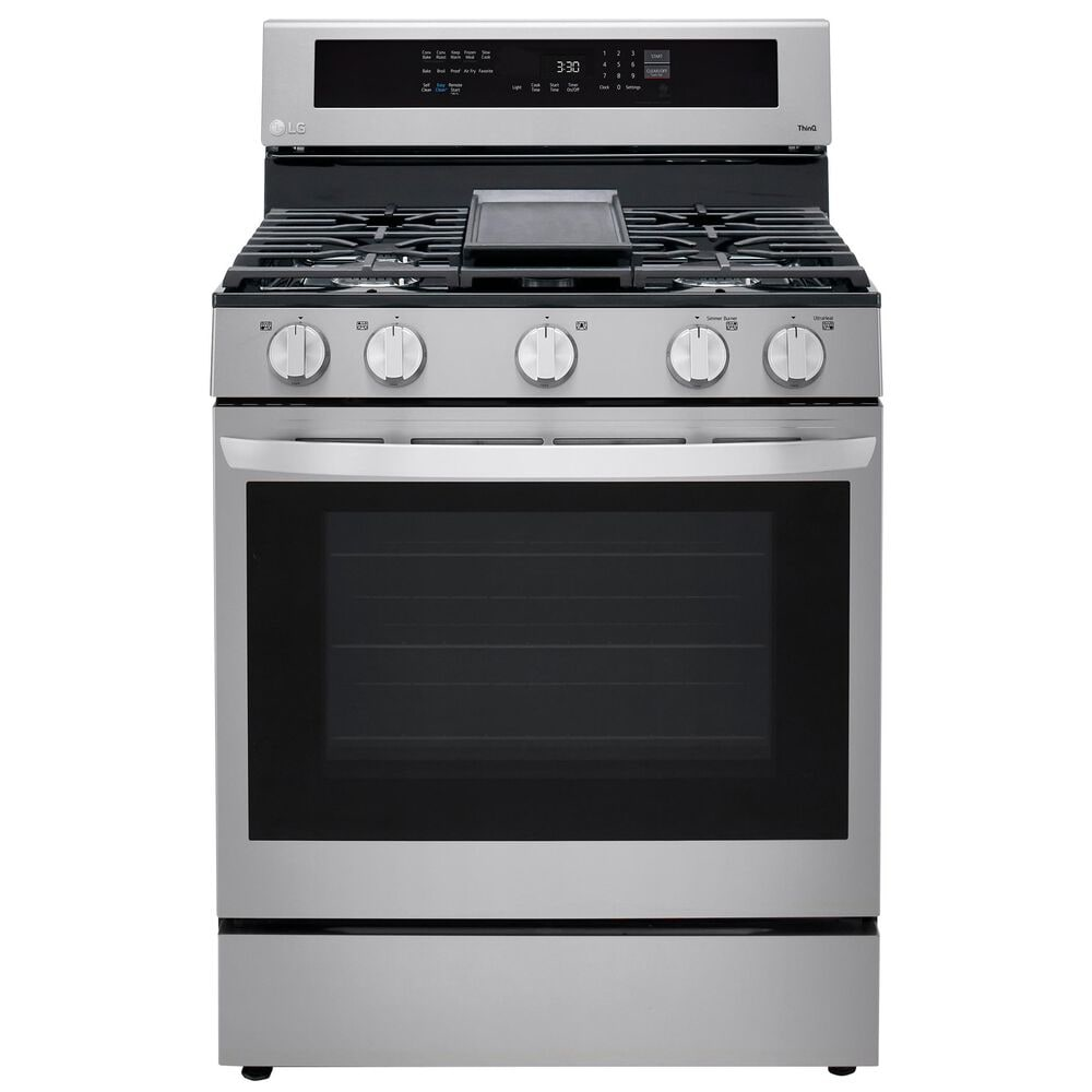LG 5.8 Cu. Ft. Smart Wi-Fi Enabled True Convection InstaView Gas Range with Air Fry in Stainless Steel , , large