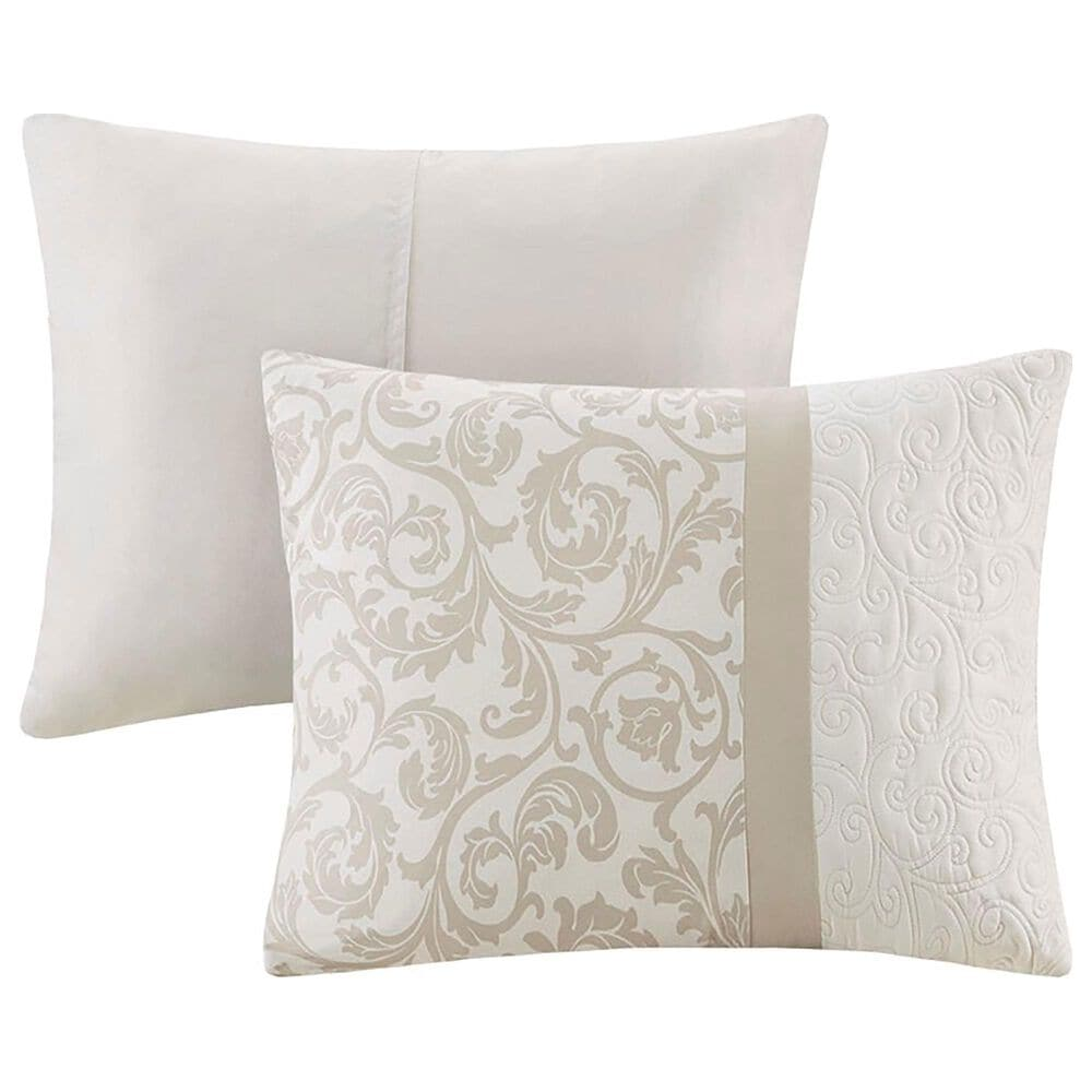 Hampton Park Ramsey Embroidered 8-Piece Queen Comforter Set in Neutral, , large