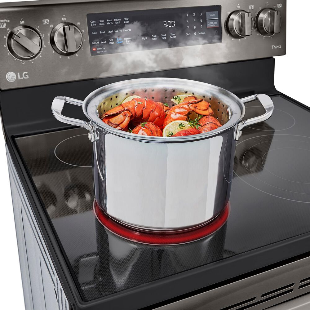 LG 6.3 Cu. Ft. Smart Wi-Fi Enabled True Convection InstaView Electric Range with Air Fry in Black Stainless Steel , , large
