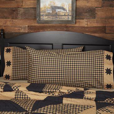 VHC Dakota Star Rustic King Pillow Case Set in Country Black, , large