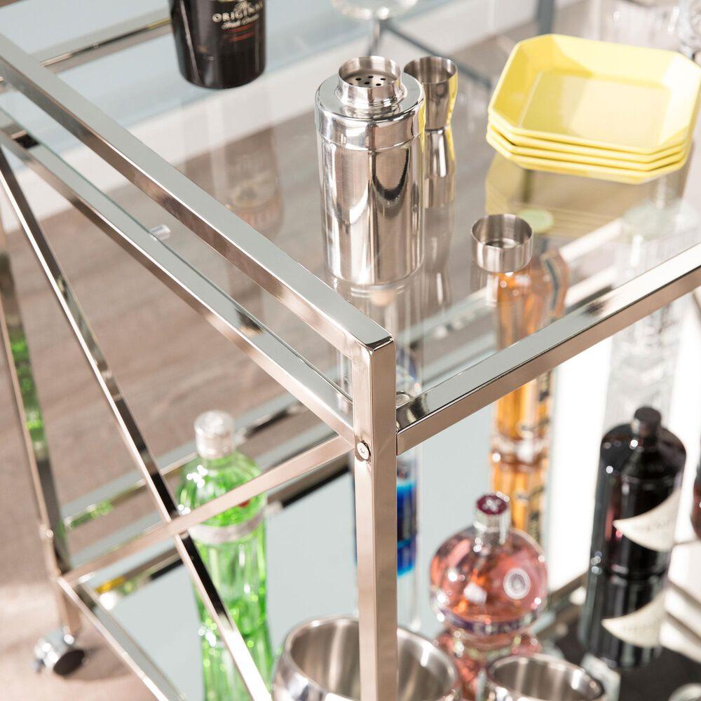 Southern Enterprises Maxton Bar Cart in Chrome, , large