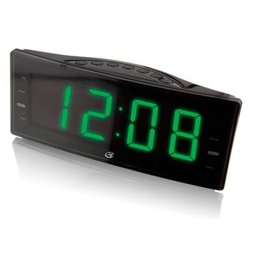 GPX Large Display Dual Alarm Clock Radio in Black, , large