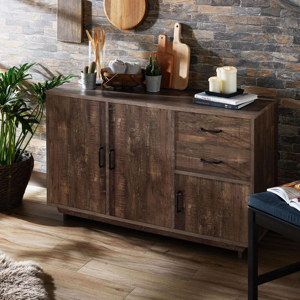 Furniture of America Brown Dining Server in Reclaimed Oak, , large