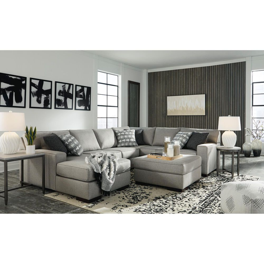 Signature Design by Ashley Marsing Nuvella Oversized Accent Ottoman in Slate, , large