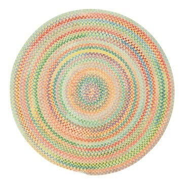 Capel Cutting Garden 0450-150 3' Round Buttercup Area Rug, , large