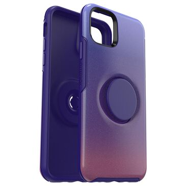Otterbox Otter + Pop Symmetry Case With Popsockets Swappable Popgrip For Apple Iphone 11 Pro Max in Violet Dusk, , large