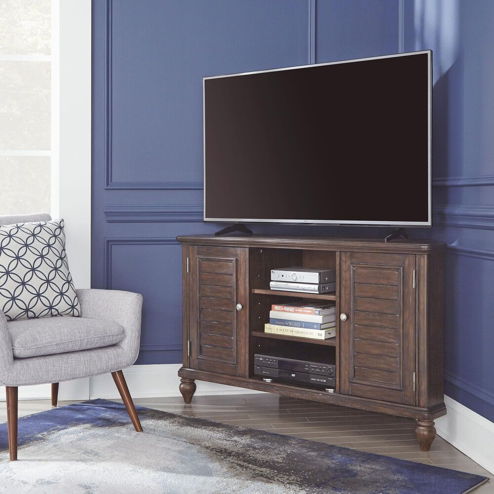 Home Styles Southport Corner Entertainment Center in Distressed Oak, , large