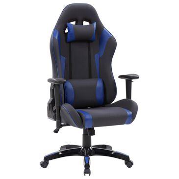 CorLiving Ergonomic Gaming Chair in Grey/Blue, , large