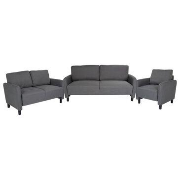 Flash Furniture Candler Park 3-Piece Living Room Set in Gray, , large