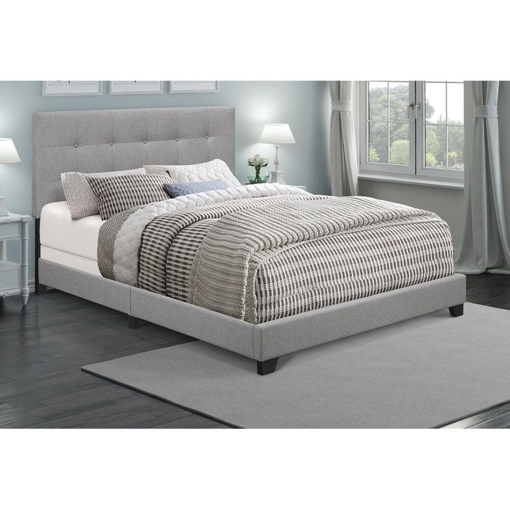 Accentric Approach Accentric Accents Benton King Upholstered Bed in Grey, , large