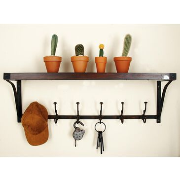 "Maple and Jade 13"" x 39"" Wall Shelf in Brown, , large"