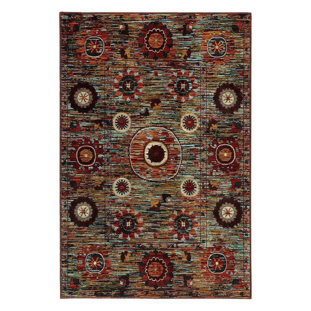 """Oriental Weavers Sedona 6408K 1'10"""" x 3' Brown Scatter Rug, , large"""