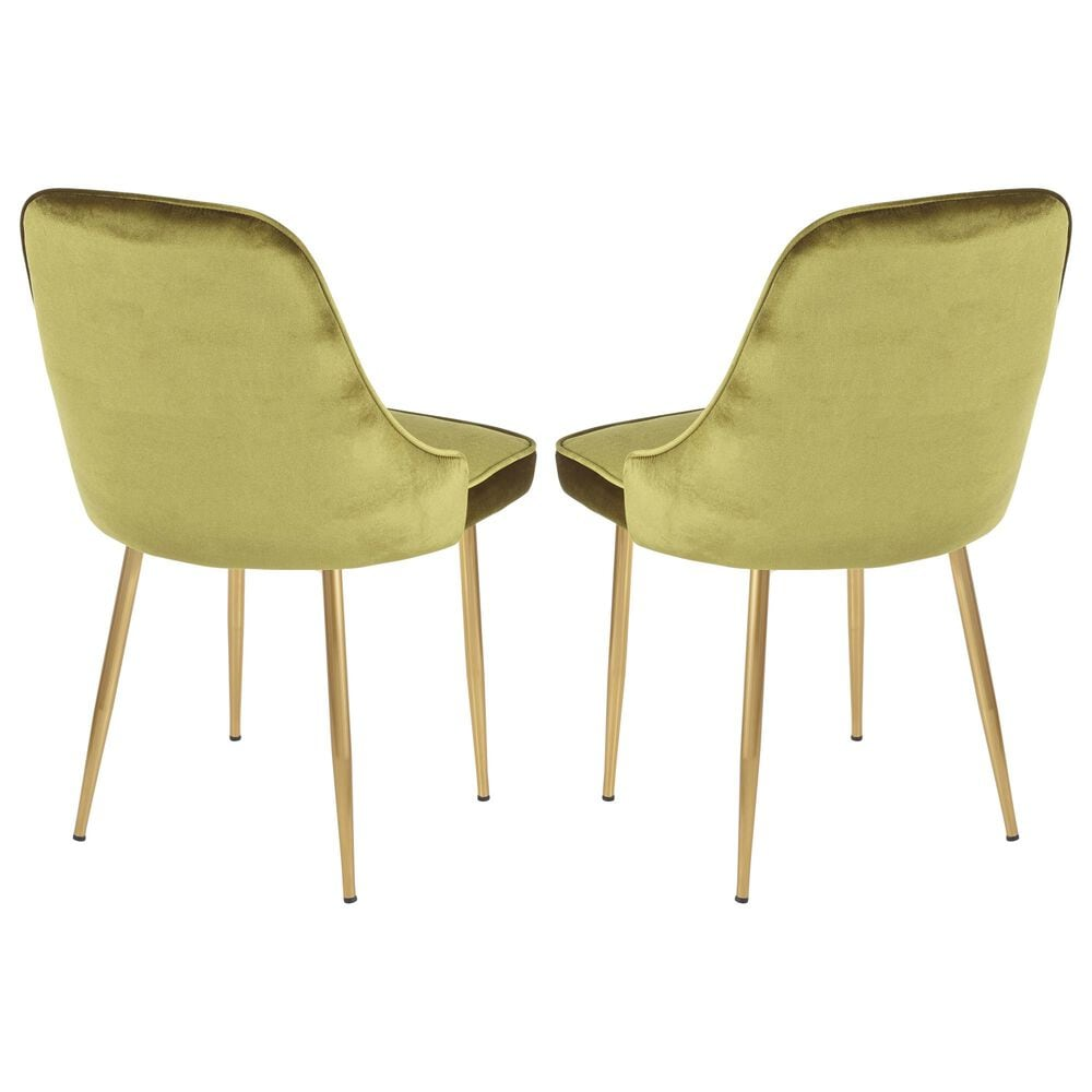 Lumisource Marcel Dining Chair in Green/Gold (Set of 2), , large