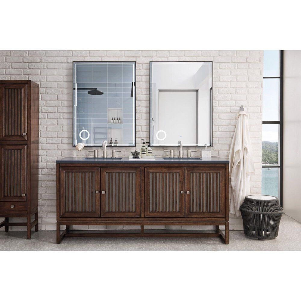 """James Martin Athens 72"""" Double Vanity Base in Mid Century Acacia, , large"""