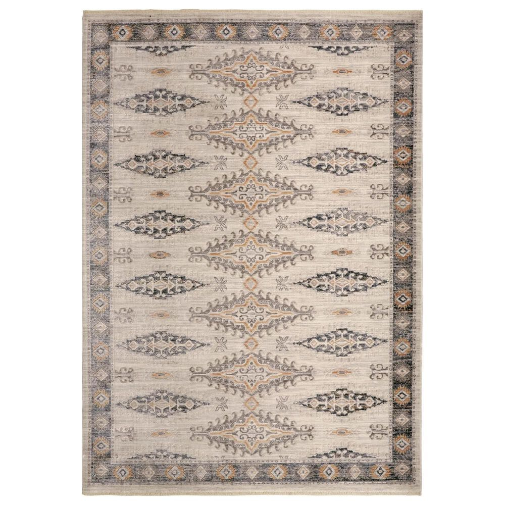 Feizy Rugs Kyra 3847F 5' x 7' Beige and Gray Area Rug, , large