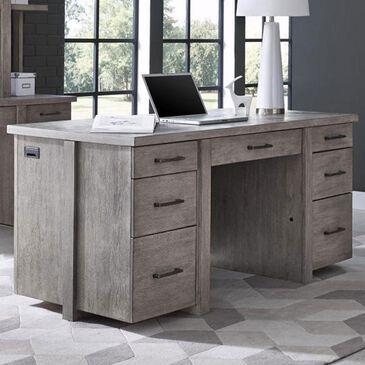 "Riva Ridge Platinum 66"" Executive Desk in Gray Linen, , large"