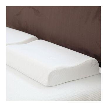 Timberlake Remedy Contour Cooling Gel Memory Foam Pillow in White, , large