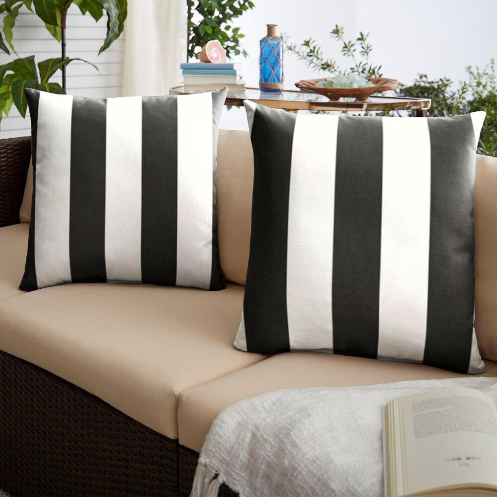 "Sorra Home Sunbrella 22"" Pillow in Cabana Classic (Set of 2), , large"