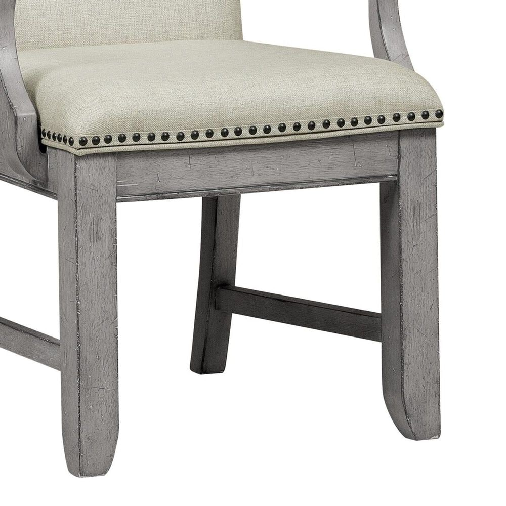 Samuel Lawrence Prospect Hill Upholstered Arm Chair in Vintage Gray, , large