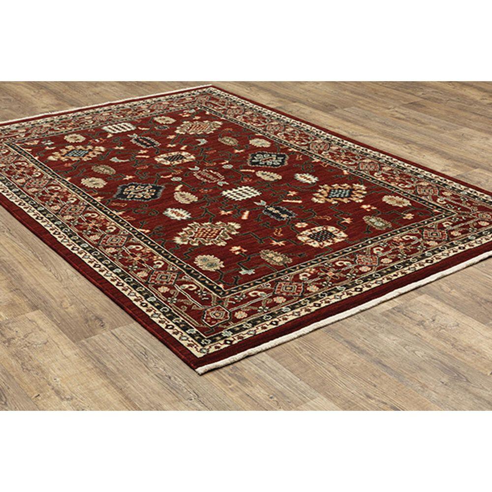 "Oriental Weavers Lilihan Oriental 043S6 6'7"" x 9'6"" Red and Black Area Rug, , large"