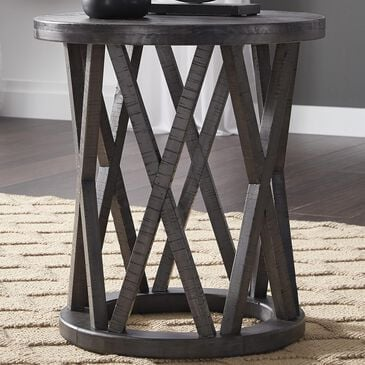 Signature Design by Ashley Sharzane Round End Table in Grayish Brown, , large