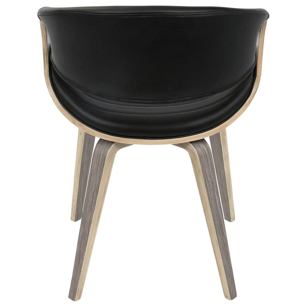 Lumisource Curvo Dining Chair in Black/Grey, , large